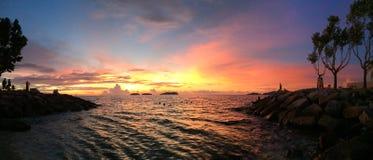 Заход солнца KK Стоковое Изображение