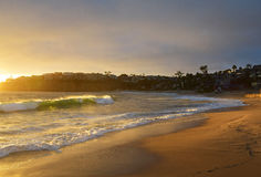заход солнца laguna пляжа Стоковые Фото