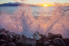 Заход солнца Lahaina Стоковое Изображение