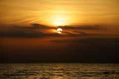 Заход солнца Lake Erie Стоковое Изображение RF