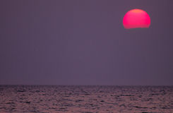 Заход солнца Lake Michigan Стоковая Фотография RF