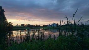 Заход солнца Lancaster County Стоковая Фотография RF