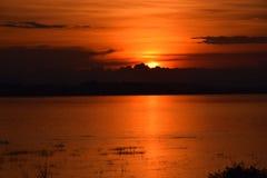 Заход солнца Laoatian Стоковые Изображения