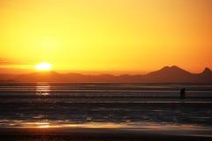 Заход солнца Mackay стоковое фото