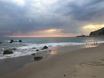 Заход солнца Malibu Стоковое фото RF