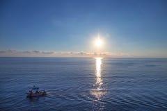 Заход солнца Manarola стоковая фотография