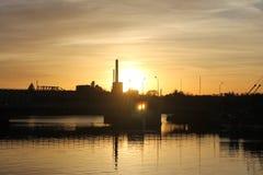 Заход солнца 1 Manitowoc Стоковое Изображение