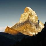 заход солнца matterhorn Стоковое Изображение RF