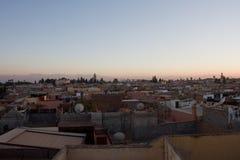 Заход солнца Medina Стоковые Изображения