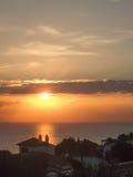 Заход солнца Menorcan Стоковые Фото