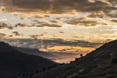 Заход солнца Merideño Стоковые Фотографии RF