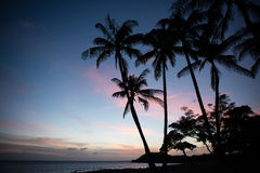Заход солнца Molokaii Стоковое Изображение