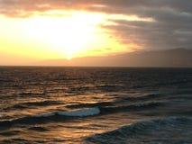 заход солнца monica santa пляжа Стоковые Изображения