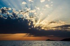заход солнца montenegro Стоковое Изображение RF
