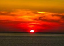 Заход солнца Mykonos Стоковые Изображения