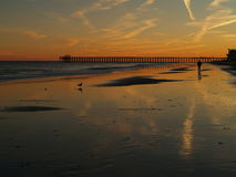 Заход солнца Myrtle Beach Стоковые Фото