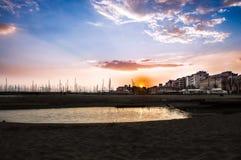 Заход солнца Nettuno Стоковые Фотографии RF