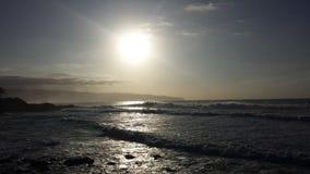 Заход солнца Northshore Стоковое Изображение