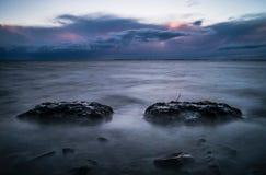 Заход солнца Ottenby Стоковые Изображения RF