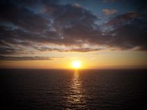 Заход солнца Perranporth Стоковые Фотографии RF