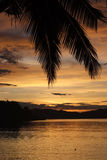 Заход солнца Phllipines Palawan Стоковое Изображение RF