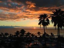 Заход солнца Puerto Vallarta стоковая фотография