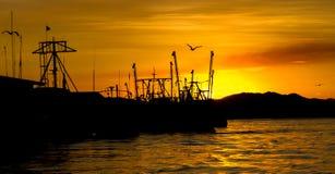 Заход солнца Puntarenas Стоковые Изображения RF