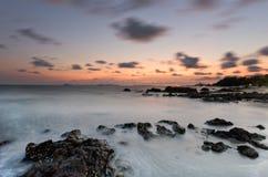 Заход солнца Rayong Стоковая Фотография