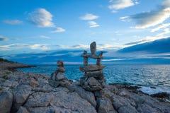 Заход солнца Razanj Хорватия Стоковые Изображения