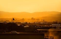 Заход солнца Reno Невады стоковая фотография rf