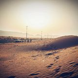 Заход солнца Roadtrip Стоковые Фото