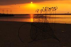 Заход солнца Rockingham Перт западная Австралия пляжа Стоковое фото RF