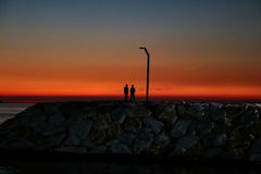 Заход солнца Romantics Стоковое Фото