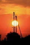 Заход солнца Romantics Стоковое Изображение RF