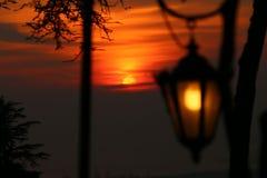 Заход солнца Romantics Стоковая Фотография RF