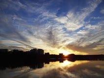 Заход солнца Rosslyn Стоковое Изображение