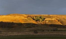 Заход солнца Rothes Глена. Стоковая Фотография RF