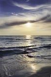 Заход солнца Salento Стоковая Фотография