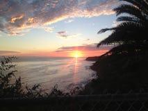 Заход солнца San Pedro Стоковое Изображение