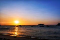 Заход солнца Santa Marta Стоковые Фото