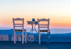 Заход солнца Santorini Стоковое Изображение