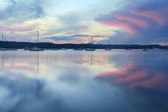Заход солнца Saratoga Стоковое Изображение RF