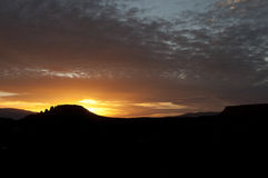 Заход солнца sedona утеса ящерицы Стоковое фото RF