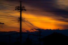 Заход солнца Smokey стоковые фотографии rf