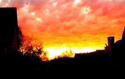 Заход солнца Stellenbosch стоковые изображения rf