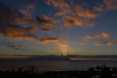 заход солнца tenerife Стоковое Изображение RF