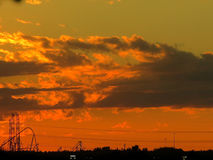 Заход солнца 2017 Thornhill Стоковые Фотографии RF