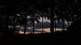 Заход солнца Timelapse с облаками в Орегоне акции видеоматериалы