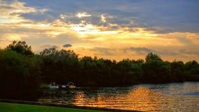 Заход солнца Tongwell сентября Стоковая Фотография RF