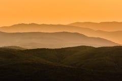 Заход солнца Toscana Стоковые Изображения
